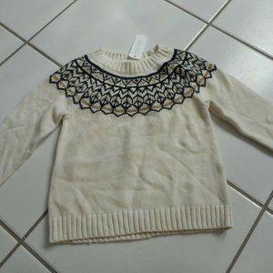 NWT GYMBOREE Girls 2T 3T Nordic Fair Isle Sweater